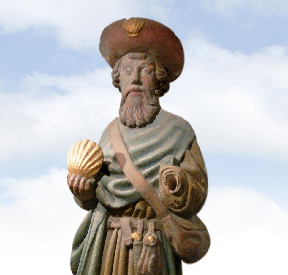 Statue des heiligen Jakobus