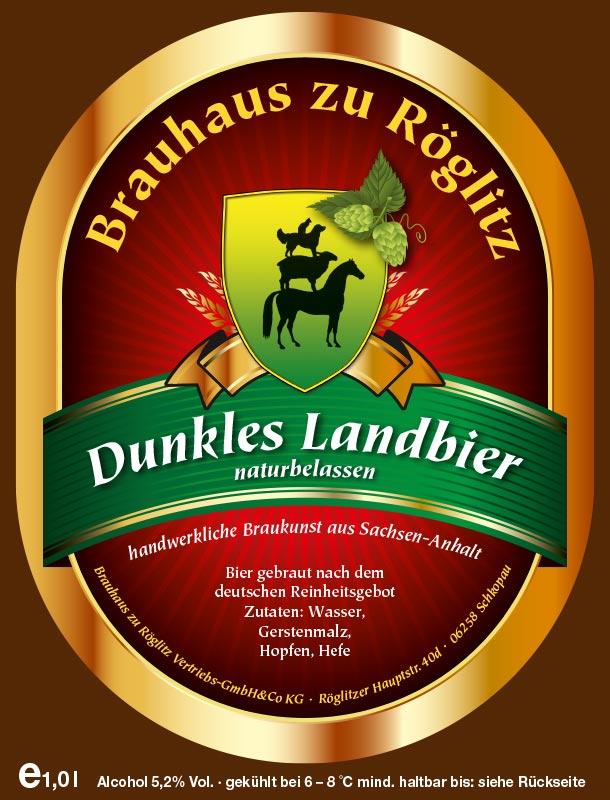 Bierflaschenetikett Dunkles Landbier
