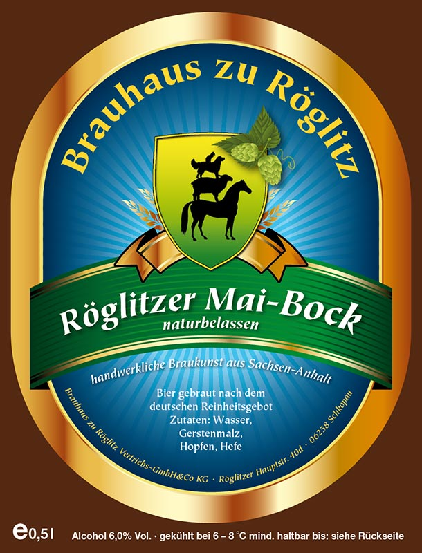 Bierflaschenetikett Mai-Bock