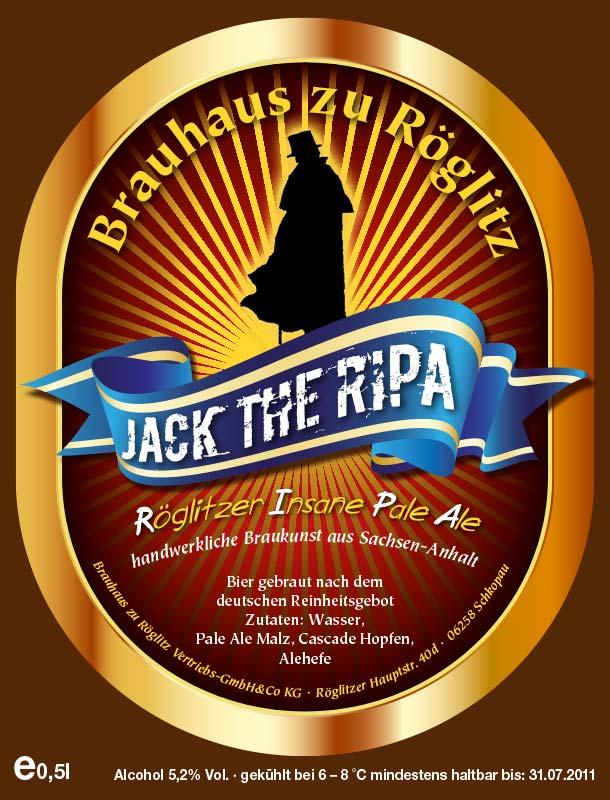 Bierflaschenetikett Jack the Ripa