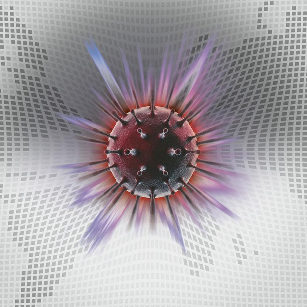 Virus schlägt als Meteorit auf Weltkarte ein