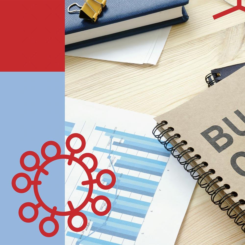 Businessgrafik - Einbruch durch Korona