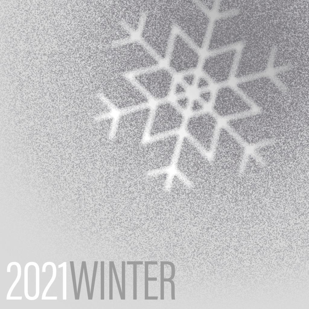 Grafik Winter mit Schneeflocke