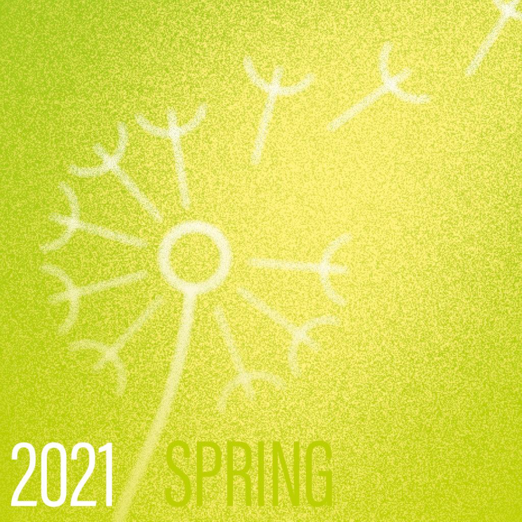 Frafik Frühling mit Pusteblume