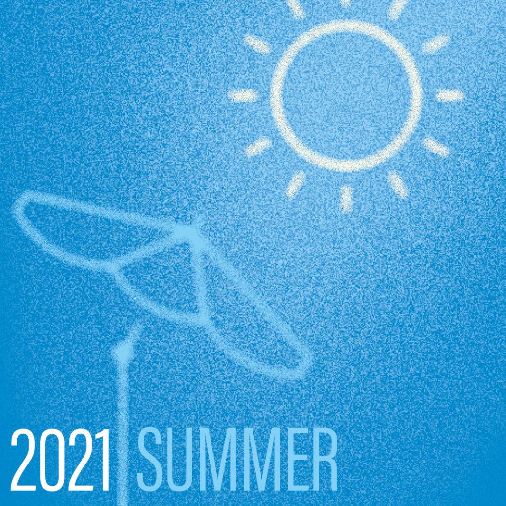 Grafik Sommer mit Sonnenschirm