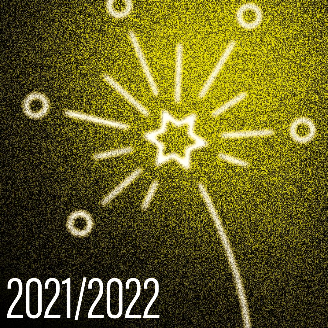 Grafik Jahreswechsel mit Feuerwerk