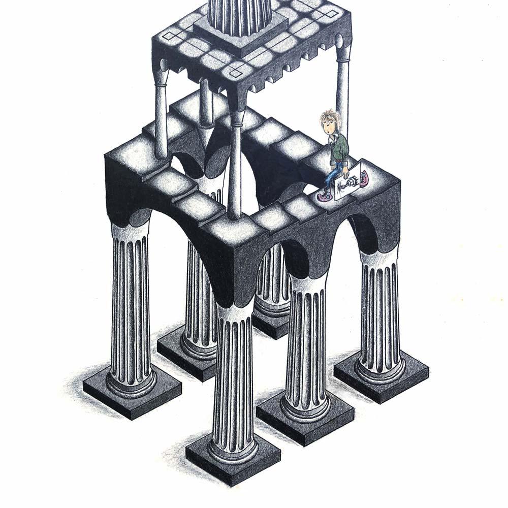 Tempel mit Gödelscher Treppe